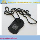 Qr Code Dog Tag With Ball Chain