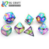 Rainbow Metal Dice Set
