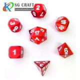 Red Metal Dice