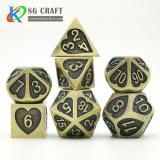 Heart Metal Dice-Antique