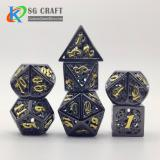 Hollow out machine Style Metal Dice